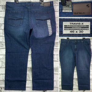 NWT Buffalo TRAVIS-X 46 x 30 Slim Straight Jeans